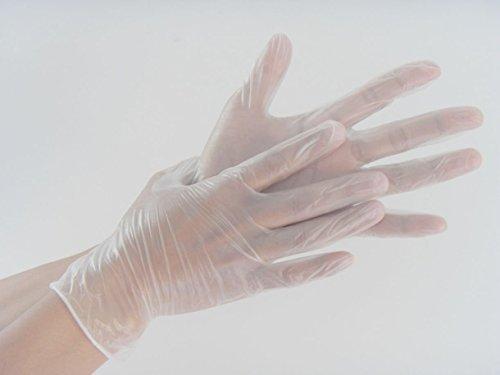 200-Medio-Trasparente-Naturale-Vinile-Non-sterili-Impolverati-Guanti-Monouso-0