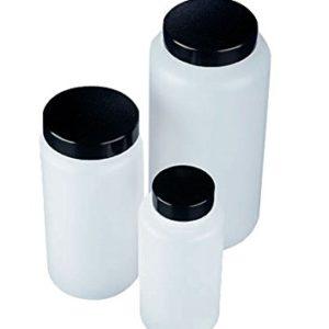 AZLON-BGC432P-Bottiglia-quadrata-di-plastica-imboccatura-ampia-HDPE-con-tappo-in-urea-300-ml-Confezione-da-10-0