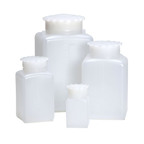 AZLON-BGE340P-Bottiglia-quadrata-di-plastica-HDPE-1000-ml-Confezione-da-5-0