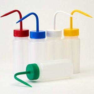 AZLON-WGW236P-Bottiglia-a-spruzzetta-rotonda-a-collo-largo-in-plasticaLDPE-500-ml-confezione-da-5-colore-rosso-0