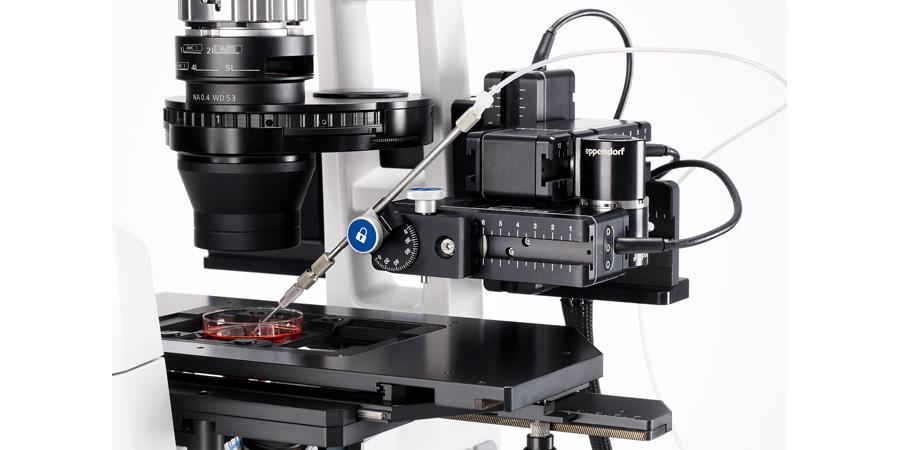 Micromanipolatore cellulare TransferMan 4r di Eppendorf