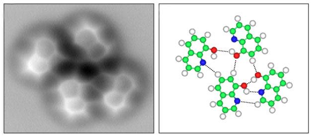 Visualizzato per la prima volta un legame idrogeno con Microscopio a forza atomica